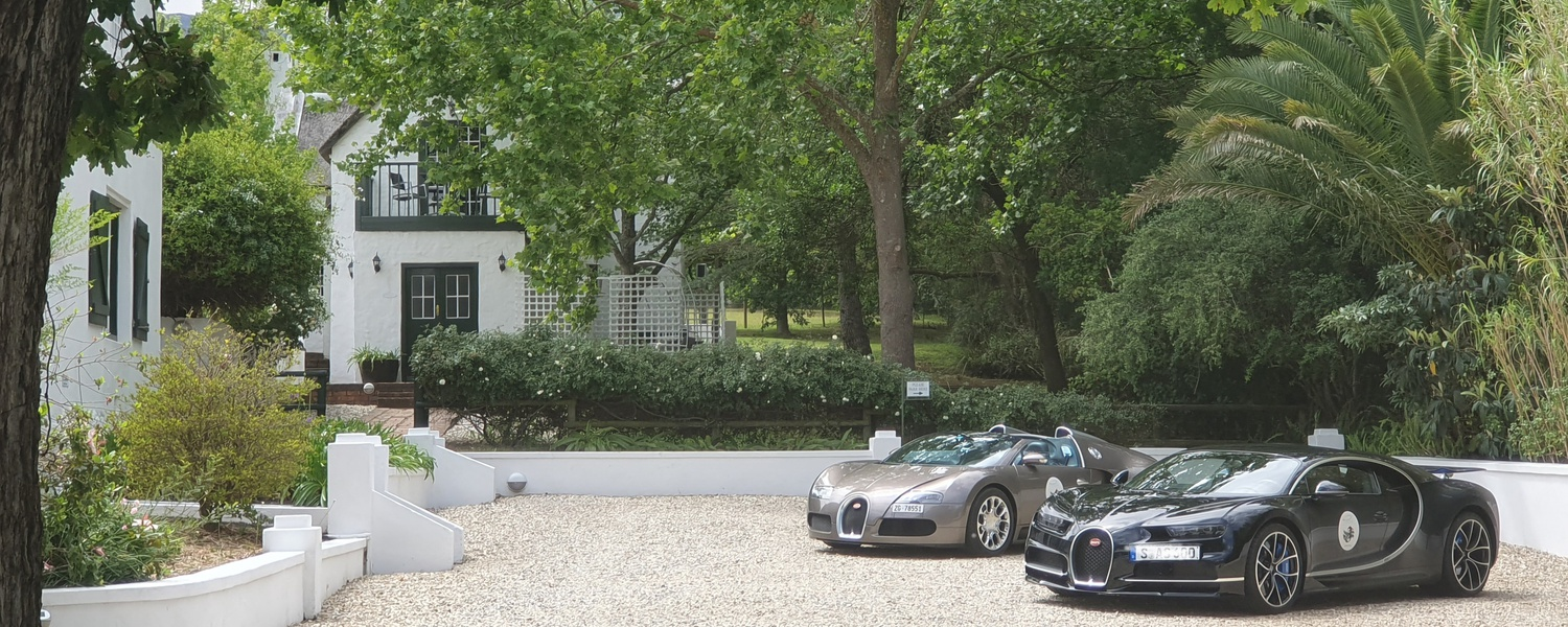 Bugatti - Swellendam South Africa De Kloof Luxury estate boutique hotel and spa